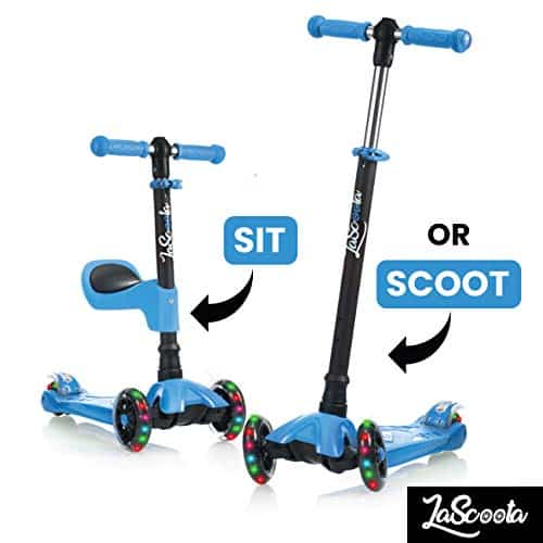 Lascoota 2-in -1 Scooter with removable Seat Great for kids and Toddlers
