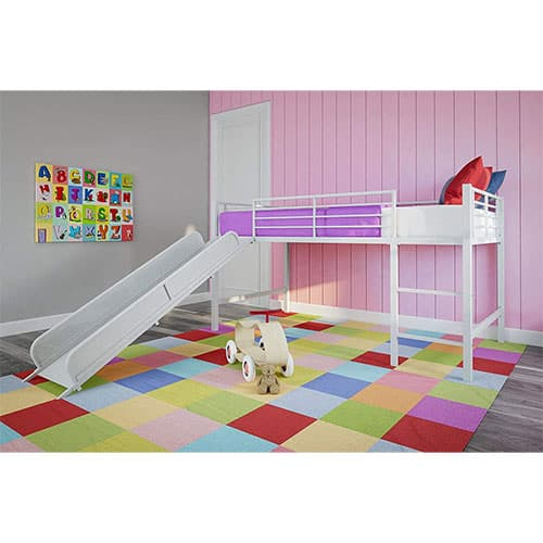 DHP Junior Twin Metal Loft Bed