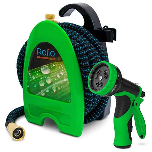 Rolio Expandable Garden Hose with Hose Reel