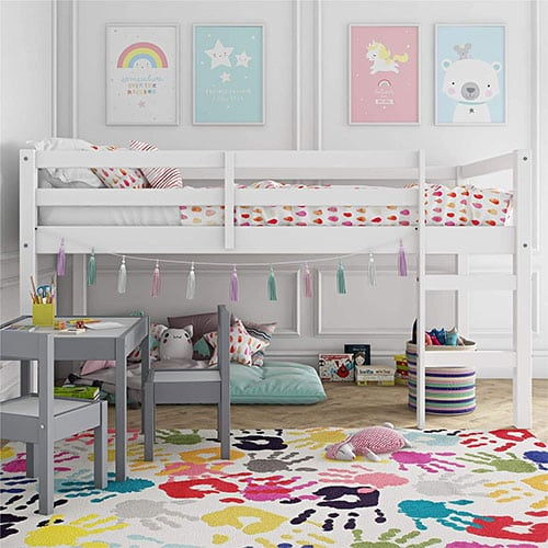 Dorel Living Milton Junior Twin Loft Bed