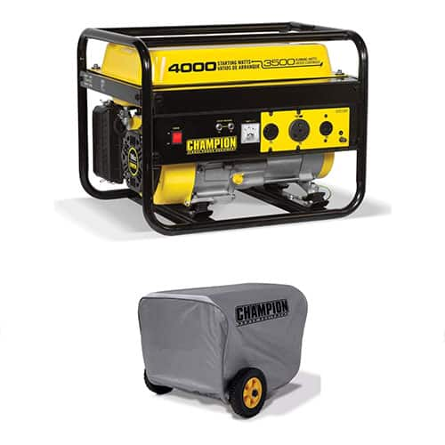 Champion 3500 Watt Portable Quiet Gas Powered Generator