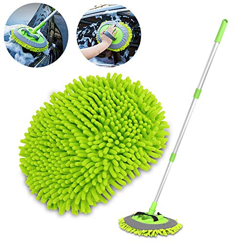 House Day's 2 in 1 Chenille Microfiber Car Wash Brush Mop Mitt