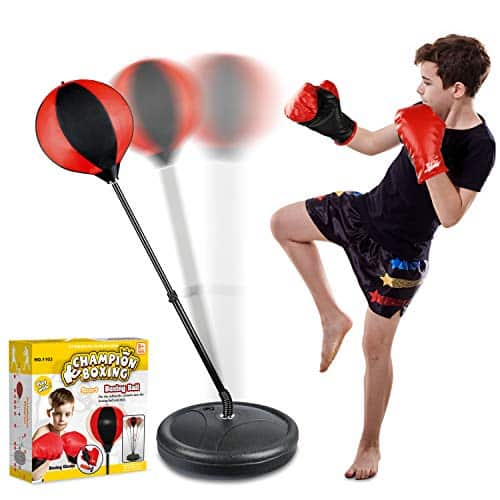 Punching Bag Set for Kids Included Punching Ball with Stand