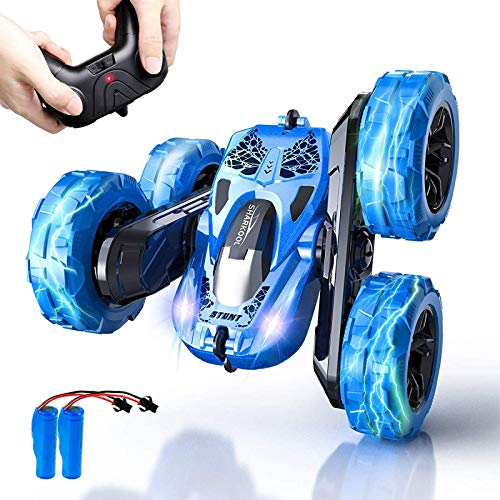 Remote Control Car, SHARKOOL 2.4GHz Electric Race Stunt Car, 4WD High Speed