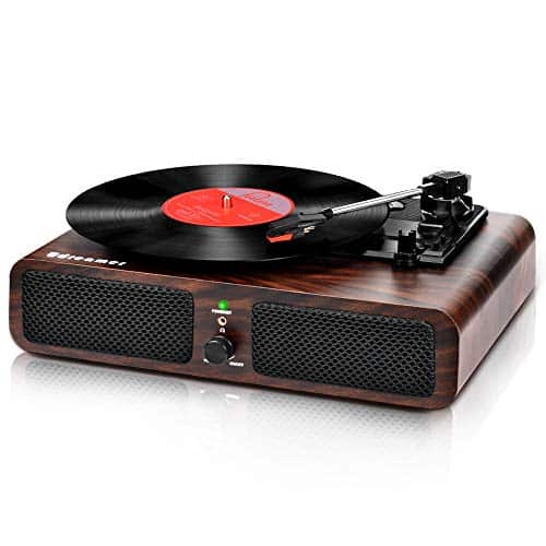 Record Player Bluetooth Turntable for Vinyl Records with Stereo Speakers
