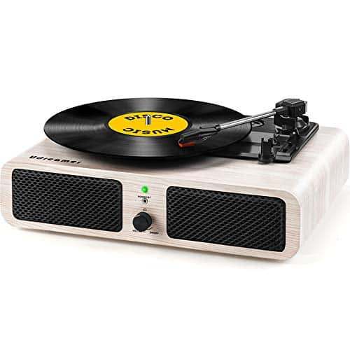 Vinyl Bluetooth Record Player Turntable with Speaker USB 3