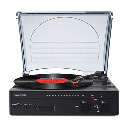 Record Player with Speakers Bluetooth Turntable